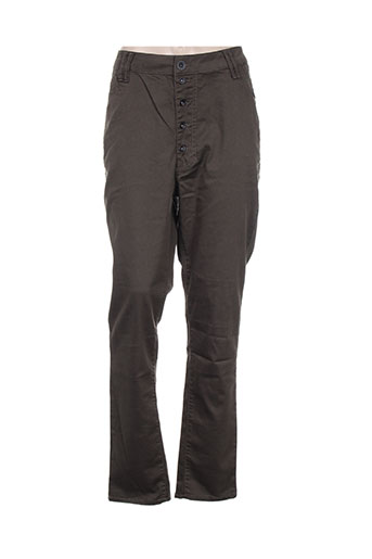 funaki pantalons femme de couleur vert