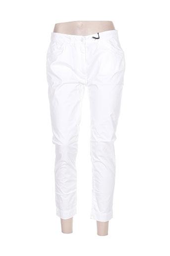 impaqt pantalons femme de couleur blanc
