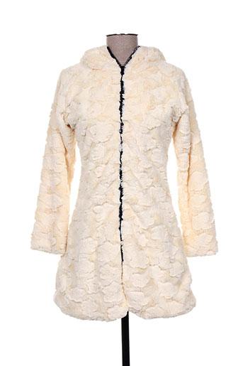 mimdo manteaux femme de couleur beige