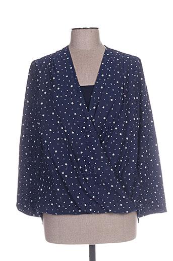 esperance chemises femme de couleur bleu