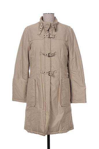maxmara manteaux femme de couleur beige
