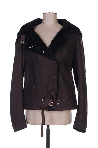 high vestes femme de couleur marron