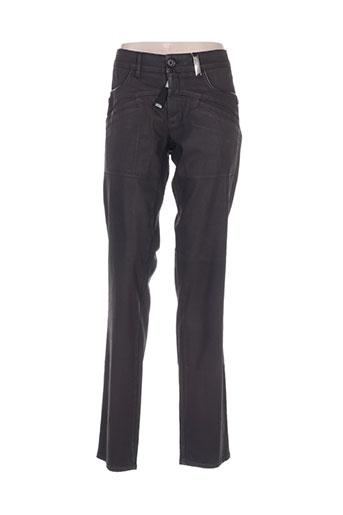 high jeans femme de couleur marron