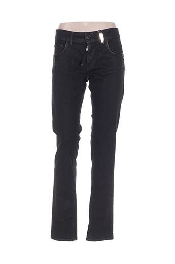 high jeans femme de couleur noir