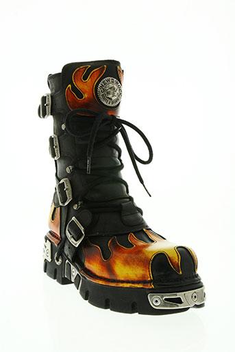 new rock chaussures homme de couleur noir
