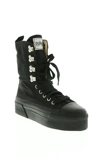 rapper's chaussures femme de couleur noir
