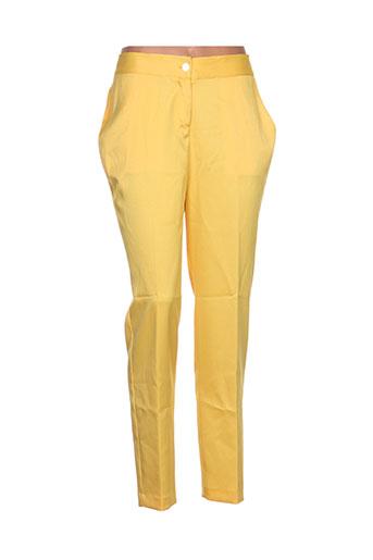 lavand pantalons femme de couleur jaune