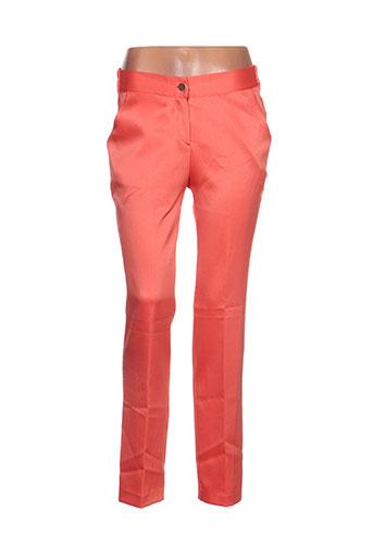 lavand pantalons femme de couleur orange