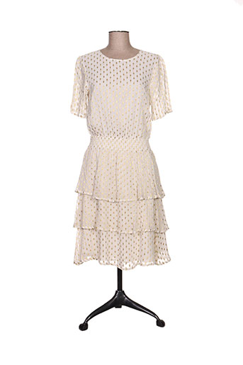 ichi robes femme de couleur beige
