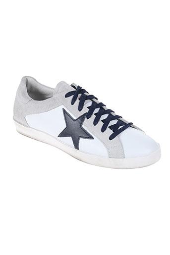 meline chaussures homme de couleur blanc
