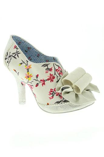 irregular choice chaussures femme de couleur blanc