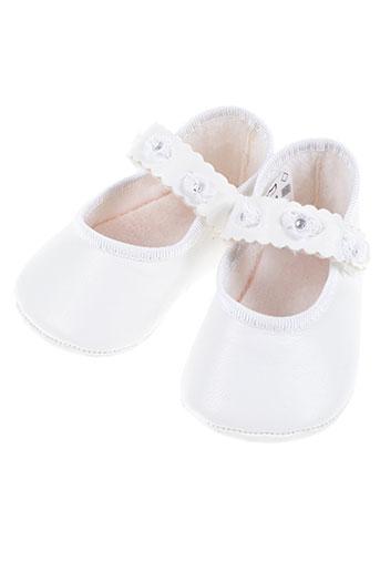 safer baby chaussures fille de couleur blanc