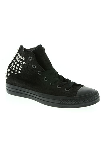 converse chaussures femme de couleur noir