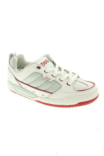 vans chaussures garçon de couleur blanc