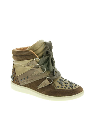 groundfive chaussures femme de couleur marron