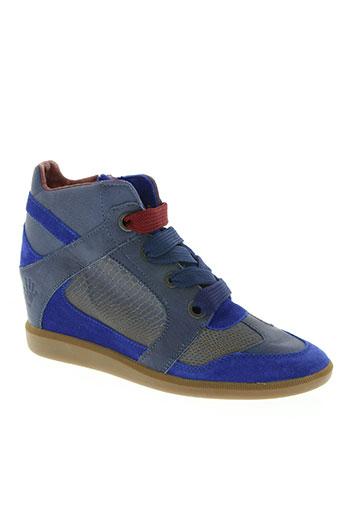 groundfive chaussures femme de couleur bleu