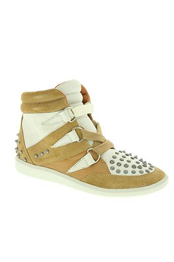 groundfive chaussures femme de couleur beige