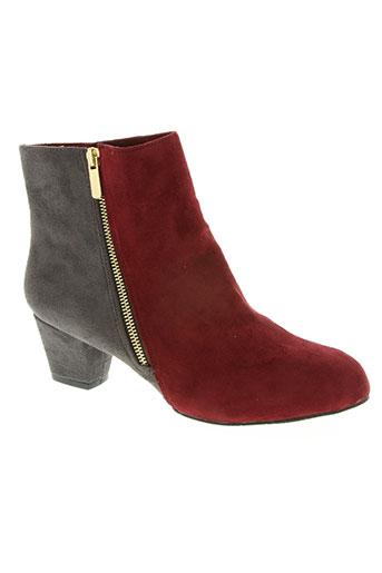 chocolate schubar chaussures femme de couleur rouge