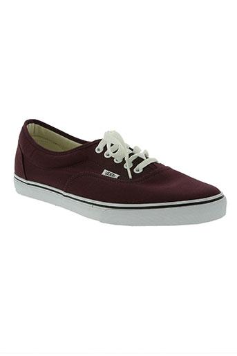 vans chaussures homme de couleur rouge