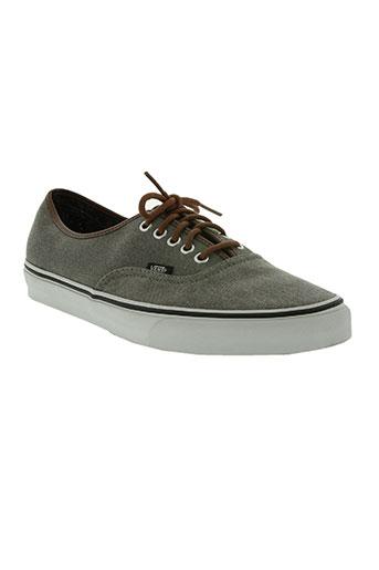 vans chaussures homme de couleur gris