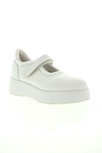 no name chaussures femme de couleur blanc