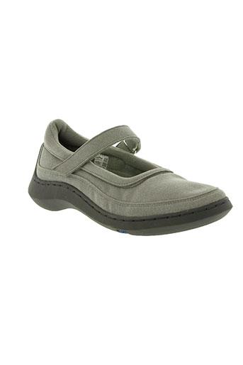 no name chaussures femme de couleur gris