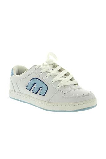 etnies chaussures femme de couleur blanc