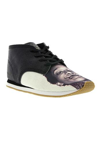 eleven paris chaussures homme de couleur noir