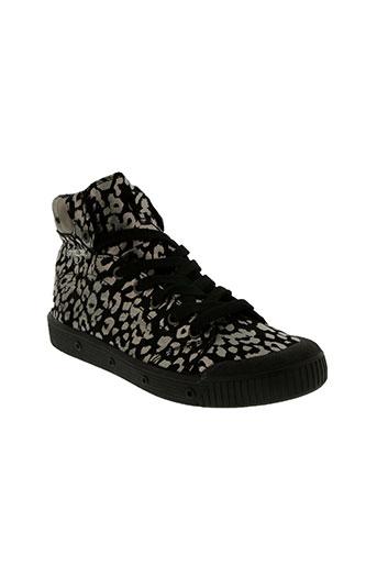 spring court chaussures femme de couleur noir