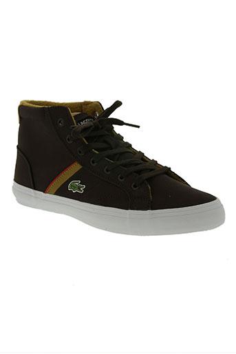 lacoste chaussures homme de couleur marron