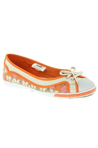 puma chaussures femme de couleur orange