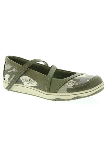 skechers chaussures femme de couleur vert