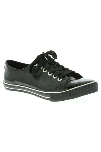 underground chaussures femme de couleur noir