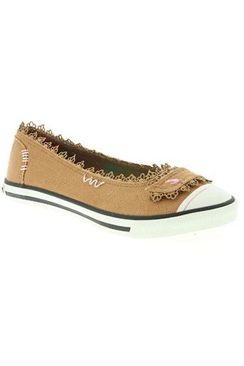 rock et dog chaussures femme de couleur marron