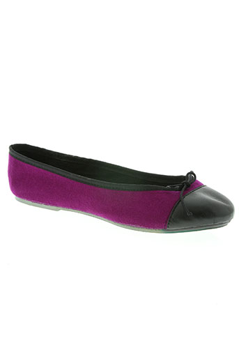 the french touch chaussures femme de couleur violet