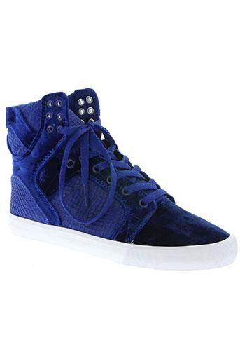 supra chaussures unisexe de couleur bleu