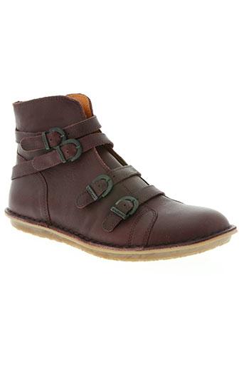 kickers chaussures homme de couleur rouge