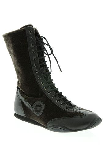 no name chaussures femme de couleur marron