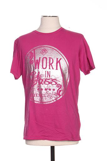 diesel t-shirts homme de couleur rose