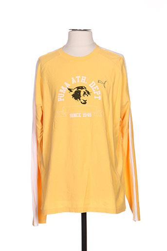 puma t-shirts homme de couleur jaune