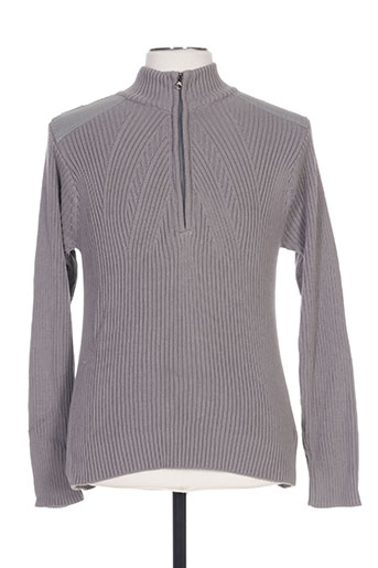 Pull col cheminée gris BIAGGIO pour homme