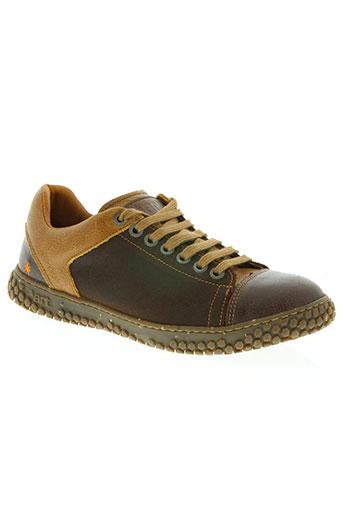 art chaussures homme de couleur marron