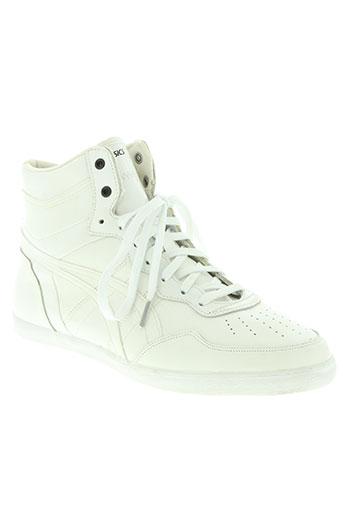 asics chaussures femme de couleur blanc