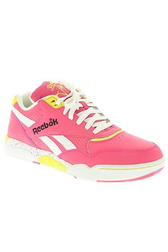 reebok chaussures femme de couleur rose