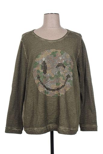 kjbrand t-shirts femme de couleur vert