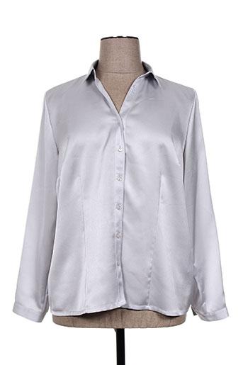 sommermann chemises femme de couleur gris