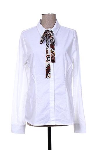 mivite chemises femme de couleur blanc