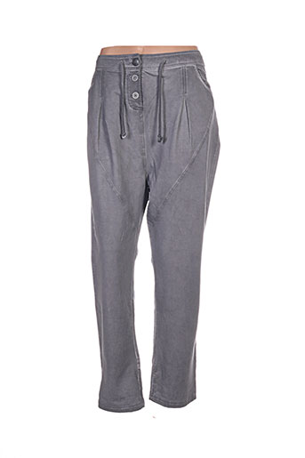 simclan pantalons femme de couleur gris