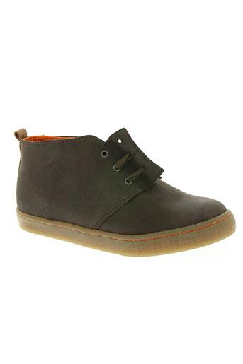 two side chaussures garçon de couleur marron