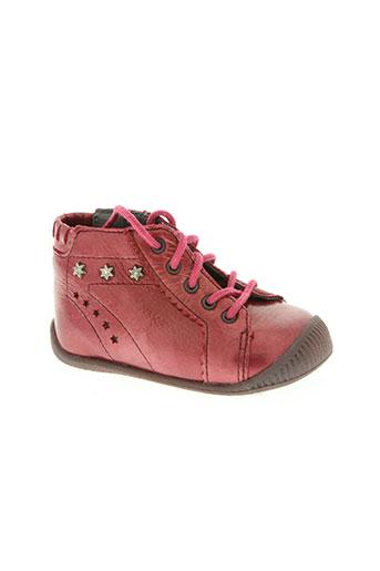 babybotte chaussures fille de couleur rouge